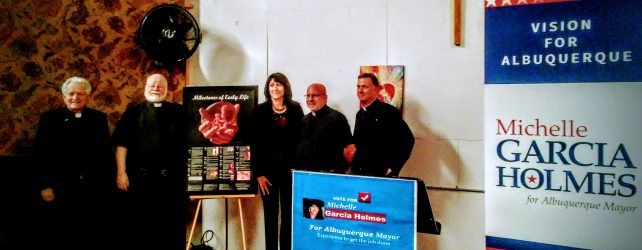 Local Pro-Life Priests and Women Support Michelle Garcia Holmes For ABQ Mayor
