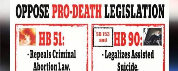 PRO-DEATH DEMOCRATS INTRODUCE TWO EUTHANASIA BILLS HB 90 AND SB 153