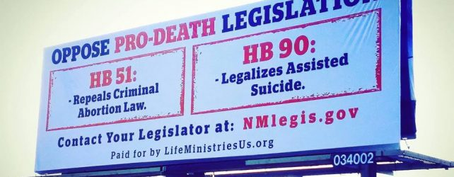 Billboard UP And SEVERAL THOUSAND Postcards DELIVERED Across New Mexico