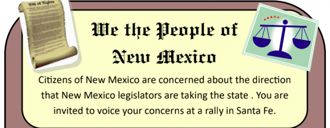 We The People Of New Mexico: Protest