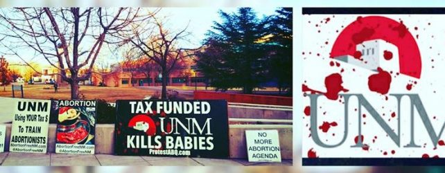 UNM UPDATE: The Pro-Life Voice Was Heard, Exclusively